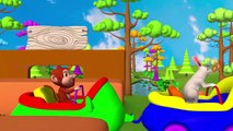 Gorille de Jouer avec la Fronde Aide les Animaux du Zoo de Traverser la Rivière de la Forêt de la Grange d'Animaux pour les Enfants le Plaisir de Jouer | Peony Noakes
