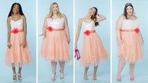 Women Sizes 0 Through 28 Try on the Same Barbie Dress