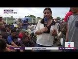 Caravana migrante rompe reja en frontera para entrar a México   Noticias con Yuriria