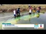 25 personas mueren en autobús que cayó a canal de agua | Noticias con Zea