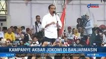 Kampanye di Banjarmasin, Jokowi Disambut Meriah Warga