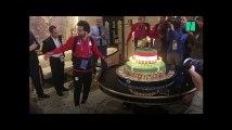 Coupe du Monde 2018: Mohamed Salah eu droit à un gâteau de 100 kg pour fêter ses 26 ans