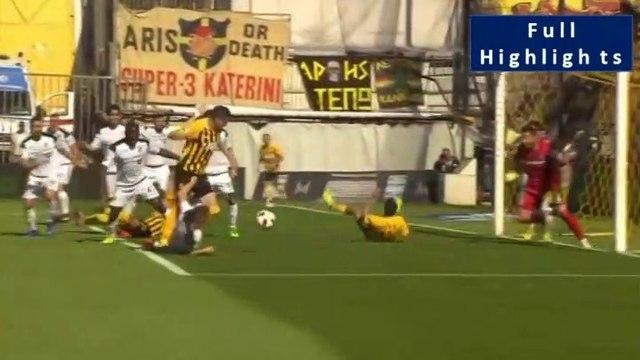 Mateo García Penallty and Dimitrios Sotiriou  amazing save and Aris requests another penalty (42') - Aris vs OFI 31.03.2019