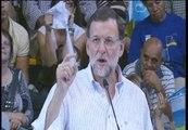 """Rajoy: """"Pido el voto para el cambio pero hay algo que no quiero cambiar, nuestra pertenencia al euro"""""""