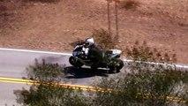 Motorcycle Crash - Yamaha R1 Lowsides on Mulholland Hwy