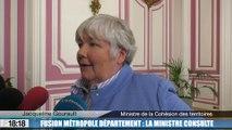 Fusion Métropole/Département : la ministre consulte