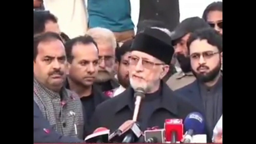Dr Tahir Al Qadri Media Talk to Media on Arrival to Pakistan