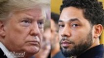 Trump Responds to Jussie Smollett's Dropped Charges, Says FBI & DOJ Will Review Case | THR News