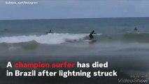 Champion Surfer Luzimara Souza Dies In Lightning Strike