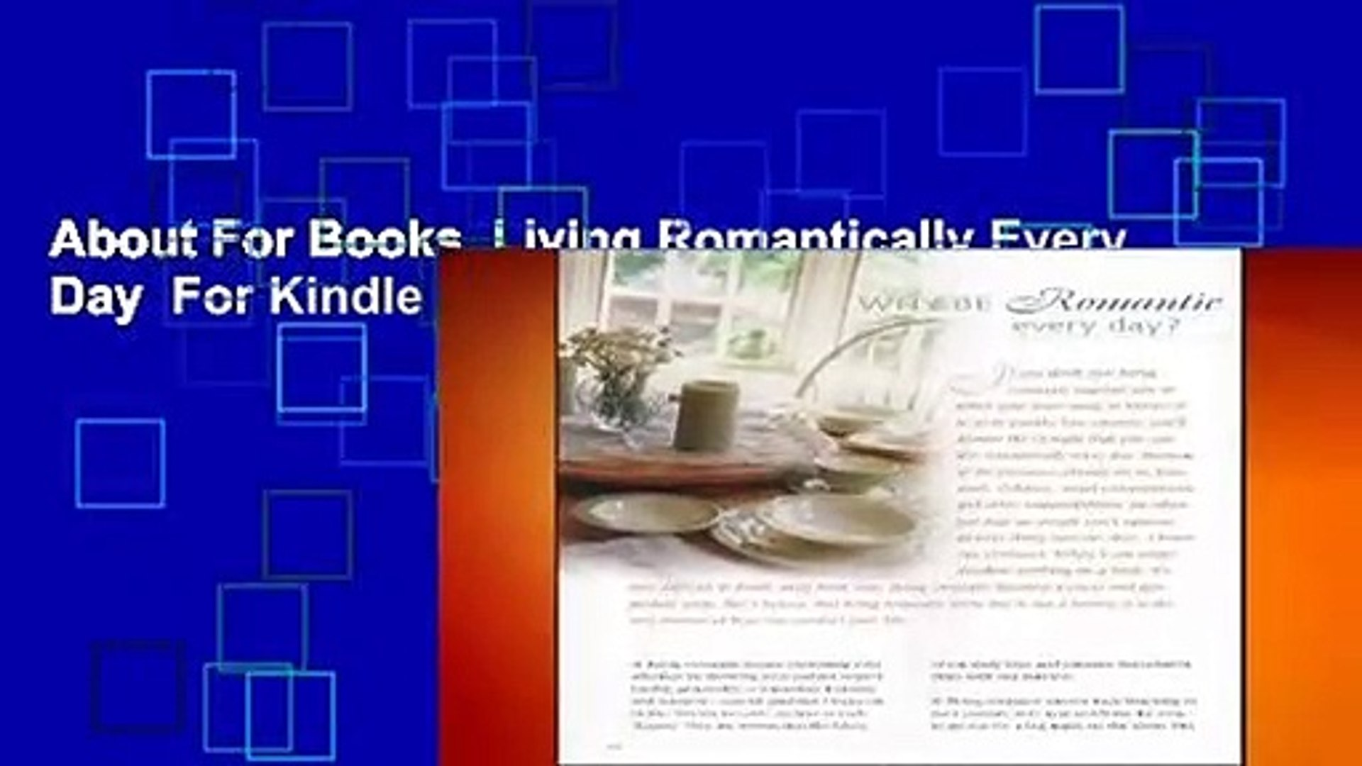 About For Books  Living Romantically Every Day  For Kindle