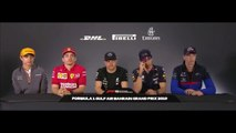F1 2019 Bahrain GP -Drivers Press Conference