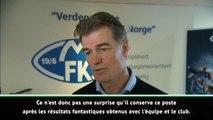 Molde - Le directeur sportif du club félicite Solskjaer