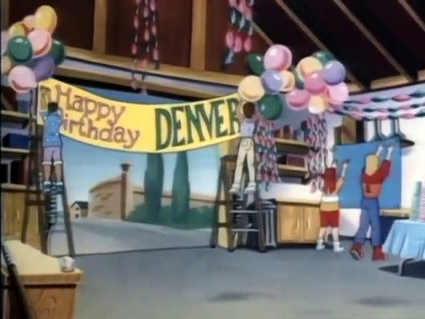 Denver the last dinosaur - cartoon - 34 - Birthday Party From Outer Space