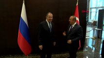 Antalya Dışişleri Bakanı Mevlüt Çavuşoğlu ve Rusya Federasyonu Dışişleri Bakanı Sergey Lavrov Bir...