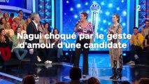 Nagui choqué par le geste d'amour d'une candidate !