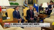 S. Korean, U.S. leaders to meet in Washington in April