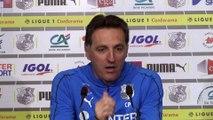 Avant  le match Christophe Pélissier Amiens SC - Bordeaux