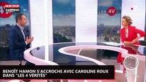 """Benoît Hamon s'accroche avec Caroline Roux dans """"Les 4 vérités"""" (vidéo)"""