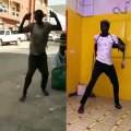 Ce jeune homme imite un danseur à la perfection. Hilarant !