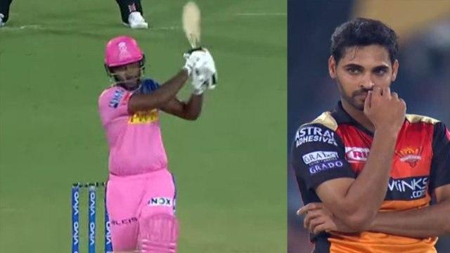 IPL 2019 RR vs SRH: Sanju Samson destroys Bhuvneshwar kumar's bowling | वनइंडिया हिंदी