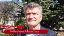 Bernard Thévenet à Saint-Jean-de-Maurienne pour la dictée du Tour