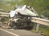 Una mujer y sus dos hijos mueren en un accidente de tráfico en Pamplona