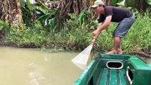 Increíble Red de captura de Pesca Submarina vs Monstruos de Río