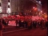 Manifestación de los empleados de la limpieza del metro de Madrid