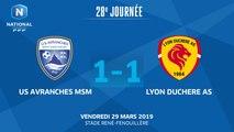 J28 : US Avranches MSM - Lyon Duchère AS (1-1), le résumé