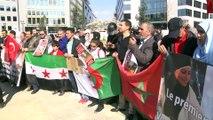 'Helal kesim yasağı' protestosu - BRÜKSEL