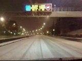La nieve ocasiona problemas en las carreteras de Madrid, León, Burgos, La Rioja y Albacete