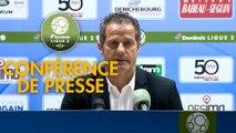 Conférence de presse ESTAC Troyes - Grenoble Foot 38 (2-1) : Rui ALMEIDA (ESTAC) - Philippe  HINSCHBERGER (GF38) - 2018/2019