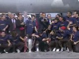 Los campeones traen la Copa a Barcelona