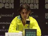 Nadal pide el apoyo del público para ganar a Djokovic