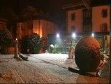 El temporal de nieve cubre de blanco Vitoria