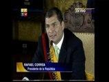 """Correa: """"Aquí no habrá perdón, ni olvido"""""""
