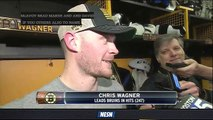 Chris Wagner Honored By Fan Support in First Year With Bruins