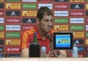 """Casillas: """"Tanto Xavi como Sergio son gente que se compromete con la selección"""""""