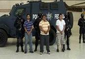 La policía mexicana detiene a tres narcotraficantes sospechosos de varios asesinatos