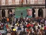 Acto en Madrid a favor del juez Baltasar Garzón