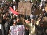 Clamor popular contra Mubarak en la Plaza de la Liberación de El Cairo