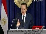 Mubarak ignora las protestas de su pueblo y se aferra al poder