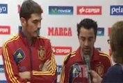 Primeras palabras de Casillas y Xavi Hernández después de recibir el Premio Príncipe de Asturias del deporte