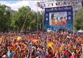 La afición de la Selección Española confía en el fútbol de 'la Roja' pese a no poder superar a Italia