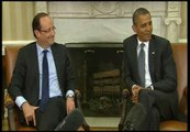 """Obama a Hollande: """"Me gustaría conocer su opinión sobre las hamburguesas de queso de Chicago"""""""