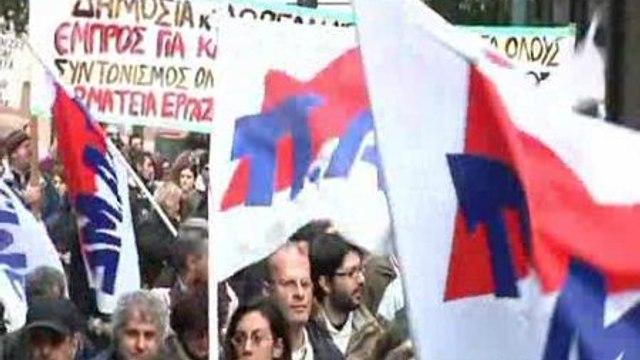 Médicos y enfermeras, en pie de guerra en Atenas