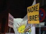 Manifestación contra la reforma del aborto ante el Ministerio de Justicia en Madrid