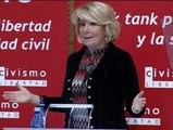 """Esperanza Aguirre: """"Ley de huelga ya, llevamos treinta y tantos años de retraso"""""""