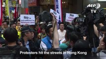 Thousands protest in Hong Kong over China extradition law