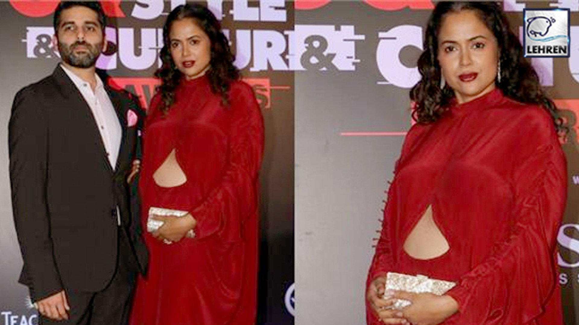 Sameera Reddy Flaunts Her Baby Bump On Red Carpet Of GQ Style & Culture Awards 2019